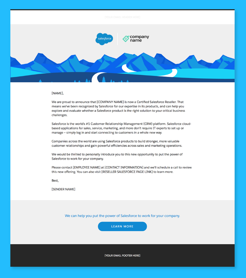 Announcingyoursalesforcepartnership create and send an announcement email altavistaventures Choice Image